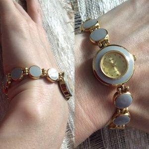 Lavender & Golden Round Face Watch